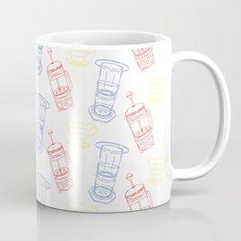 Coffee Brewing Pattern - Primary Coffee Mug