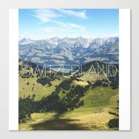 switzerland Canvas Prints featuring Switzerland by Vania Pietronigro