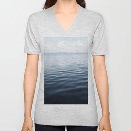 calm blue water Unisex V-Neck