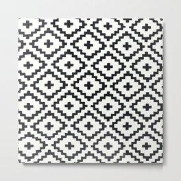 geometric diamond pattern Metal Print