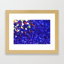 Picturesque dark blue Framed Art Print