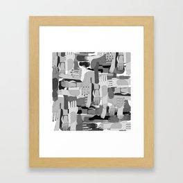 Black & White Hands Framed Art Print