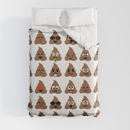piles of poop in different moods Duvet Cover