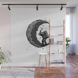 Moon miner Wall Mural