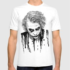 The Joker White Mens Fitted Tee MEDIUM