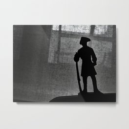 A Man Guarding (Silhouette) Metal Print
