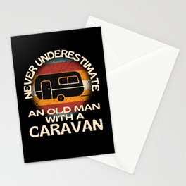 Old Man With A Caravan Stationery Cards