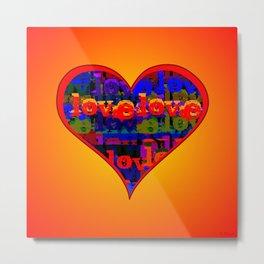 Love Love Heart Sunfire Metal Print