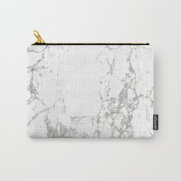 Gray white abstract modern marble pattern Carry-All Pouch