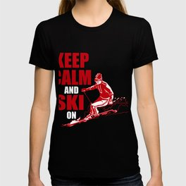 Costume For Skiing Lover. Gift Ideas For Daughter/Son. T-shirt