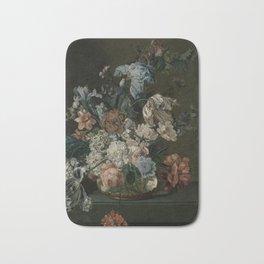 Cornelia Van Der Mijn - Still Life With Flowers Bath Mat