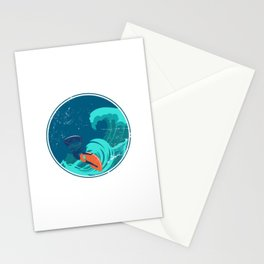 Kite Surfing Ocean Waves Stationery Cards