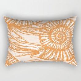 AMMONITE COLLECTION ORANGE Rectangular Pillow