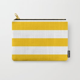 Golden poppy -  solid color - white stripes pattern Carry-All Pouch