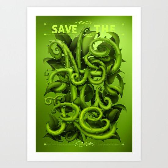 Save The Nature Art Print