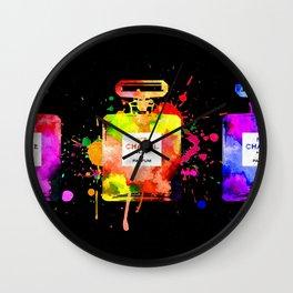 No 5 Black Grunge Wall Clock