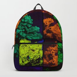 Fluorescent coral collage Backpack