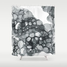 Ink Bubbles Shower Curtain
