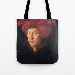 Jan van Eyck – A Portrait of a Man with a Turban Tote Bag