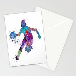 Girl Basketball Watercolor Print Sports Art Basketball Decor Sports Poster Nursery Art Stationery Cards