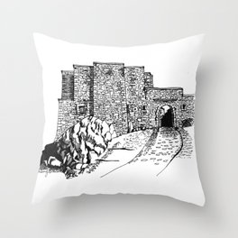 shadow at the top of the hill Throw Pillow