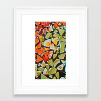 mosaic Framed Art Prints featuring Mosaic by Maggie Dylan