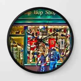 Hip Hop Dance Shop Wall Clock