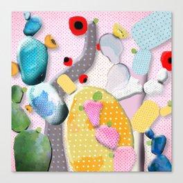Pink Cactus Mexico Lindo Canvas Print