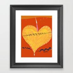 Heart on the Mend Framed Art Print
