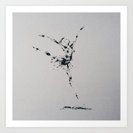 Splaaash Series - Flying Dancer Ink Art Print