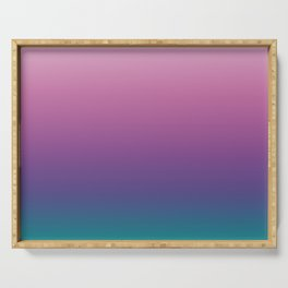 Pastel Gradient Pink Lavender Ultra Violet Arcadia Pattern | Pantone colors of the year 2018 Serving Tray