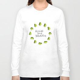 Avocado Sun Salutation Long Sleeve T-shirt