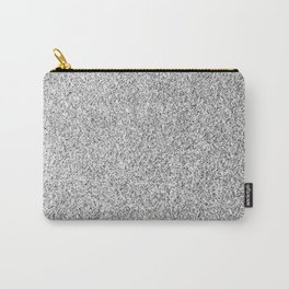 Beautiful Silver glitter sparkles Carry-All Pouch
