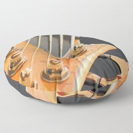 Morphed Electric Bass Floor Pillow