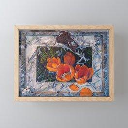Urban crocuses Framed Mini Art Print