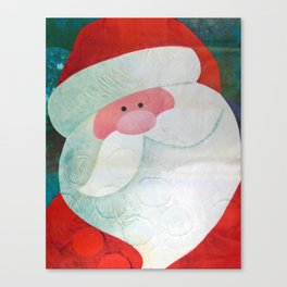 Santa Face Canvas Print