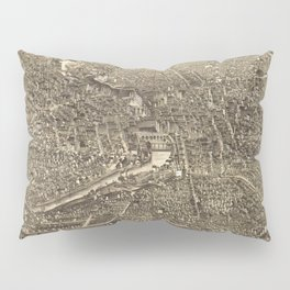 Vintage Pictorial Map of Rochester NY (1880) Pillow Sham