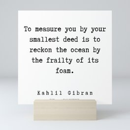 71   | Kahlil Gibran Quotes | 190701 Mini Art Print