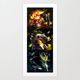 Gen 4 Final Evolution Starters Art Print