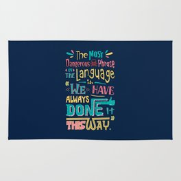 Lab No. 4 We Have Always Done It Grace Hopper Quotes Rug