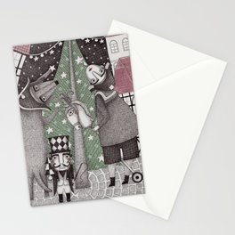Of Snow and Stars and Christmas Wishes Stationery Cards