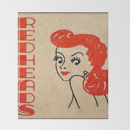 Redheads Vintage Poster Throw Blanket