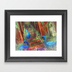 The Blue Swan Framed Art Print