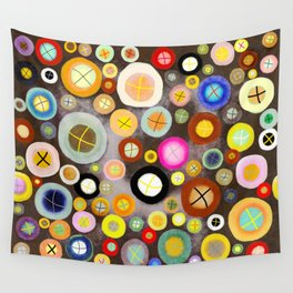 The incident - Circles pale vintage cross Wall Tapestry