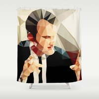 tarantino Shower Curtains featuring Quentin Tarantino // Reservoir Dogs by VIVA LA GRAPH!