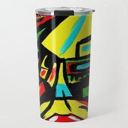 """Rosy Cheeks"" Abstract Portrait Painting Travel Mug"