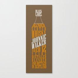 Typographical Johnnie Walker Canvas Print
