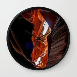 Antelope leap Wall Clock