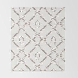 Modern Boho Ogee in Cream Throw Blanket