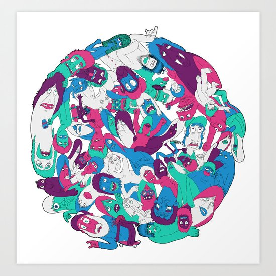 Goon Ball Art Print